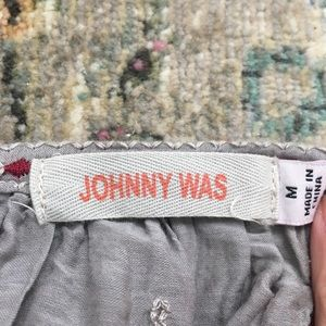 Johnny Was Tops - Johnny Was silk cotton embroidered blouse M Ava